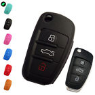FIT FOR AUDI Q7 A3 A4 A6 A7 A8 TT R8 FLIP KEY SILICONE COVER REMOTE HOLDER FOB