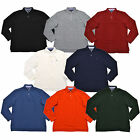 Tommy Hilfiger Long Sleeve Polo Shirt Mens Solid Casual Mesh L/s Logo New Th