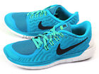 Nike Wmns Free 5.0 Blue Lagoon/Black-Voltage Green Barefoot Running 724383-403