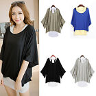 CHIC Fashion Women's Batwing Blouse Casual Loose Tops T-shirt Vest M-XXL Hot