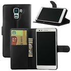 PU Leather Wallet Flip Case Cover Card Holder for Huawei Honor 7