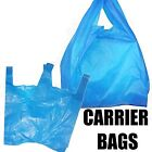 BLUE PLASTIC VEST CARRIER BAGS 11