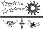 Belly Button Ankle 10 Hand stars TEMPORARY fake celebrity tattoos TATTOO SET
