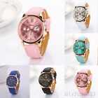 Fashion Geneva Women Men Watch Quartz Wrist Watch Love Watch Faux Leather