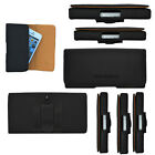 Universal Leather Flip Holster Belt Wallet Pouch Cover Case For Various Phones