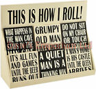 Man's Fun Coasters - Humorous Men Sayings - Gift Present Man Dad Husband Wife