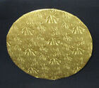 "Round Gold Foil Cake Board, 1/4"" Thick - PACK of 12"