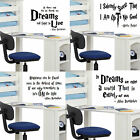 WALL STICKERS  SMALL A4 OR A3 CHOICE 14 COLOURS 4 x HARRY POTTER POPULAR QUOTES