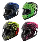 Icon 2016 Alliance Crysmatic Motorcycle Full Face Helmet ECE All Colors XS-3XL