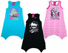Girl's Monster High Fang Hem Sleeveless Summer Cotton Sun Dress 8-14 Years NEW
