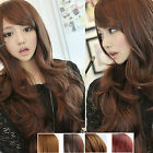 Sexy Womens Girls Fashion Wavy Curly Long Hair Accessories Human Full Wigs Gift