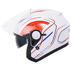 Leopard LEO608 Open Face Scooter Motorbike Motorcycle Helmet Crash Sun Visor