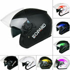 Leopard LEO-602 DVS Open Face Scooter Motorbike Motorcycle Helmet Crash LEO-612
