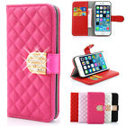 Luxury Bling Crystal Diamond Wallet Flip Case Cover For Apple iPhone Samsung