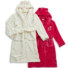 Girls Forever Dreaming Hooded Dressing Gown Robe Stars Embroidery In 2 Colours