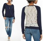 New Women T Shirt Long Sleeve Blouse Casual Tank Tops T-Shirt Lace