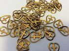 12 brass hearts greetings cards scrapbooking CRAFT 12mm metal Post Free UK