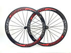 Speedcarbon 700c 50mm clincher full carbon fiber bike bicycle racing wheels