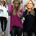 NEW Womens Crewneck Long Sleeve Casual Winter Jumper Pullover Top Sweater Blouse