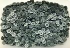 Small 11mm 18L Mid Grey Satin Finish Quality 4 Hole Shirt Buttons (Z118)