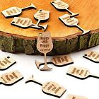 Personalised Rustic Wooden Drink Tokens Wedding Favours Vintage Voucher Wine