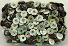 Large 20mm 32L Light Green Shell Effect Pearlescent 4 Hole Quality Buttons (Z167