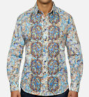 Robert Graham Grand Master Limited Edition Shirt Swarovski Crystal Buttons M NWT
