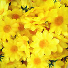 100Pcs Floral Birthday Sunflower Artificial Heads For Wedding Party Decor