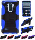 For LG G Stylo LS770 Dual Layer Hybrid Side Kickstand Holster Cover Case
