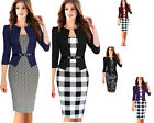 Few Patterns Women Pencil Casual FORMAL Bodycon Sheath Autumn TUNIC Dress B237-2