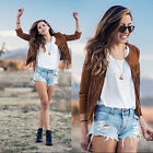 Fashion Women Tassel Trench Outwear Sexy Jacket Overcoat Coat Clubwear New