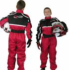 GO - Kart One Piece RACE SUIT Overalls Karting Quilted Polycotton - RED
