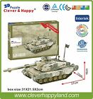 Clever&Happy 3D Puzzle Model UK Challenger 2 tank Educational Toys Paper Diy
