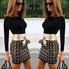 Fashion Women's Long Sleeve Bodycon Evening Party Cocktail Short Mini Dress UK
