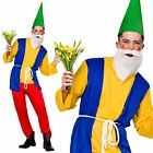 Mens Garden Gnome Dwarf Costume Fairy Tale Dwarves Adult Stag Panto Fancy Dress