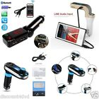 Dual USB Bluetooth MP3 Player FM Transmitter Hands-free Car Kit Charger Mobile