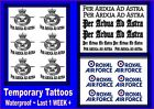 RAF themed TATTOOS temporary tattoo waterproof  LAST 1 WEEK+ Air Force motto