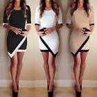 Women Summer Sexy Dress Bandage Bodycon Evening Irregular Mini Dress Party