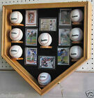 Baseball Shadow Box Display Case Cabinet, UV Protection, Lock, B08K