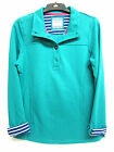Ladies Ex-Chain Green Button Up Neck Long Sleeve Top