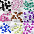 1000pc 3/4/5mm Acrylic Faceted Rhinestone Round Beads For Nail Phone Art Gift