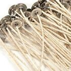 "HTP 83 COTTON CORE PRETABBED WICKS 6"" LENGTH GREAT IN SOY OR PARAFFIN WAX"