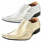 Mens smartlook gangster style casual/formal wedding slipon synthetic Shoes 40-45