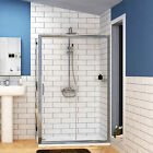 Easy Walk in Glass Sliding Door Shower Enclosure Corner Cubicle Tray 1400x900mm