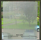 Elegant Window Blinds Design Frosted Decorative Static Stained Glass Vinyl Film