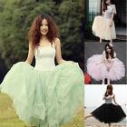 New Womens Bohemian Pleated Tutu Princess Skirt Petticoat Knee-Length Mini Dress