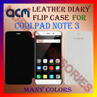 ACM-LEATHER DIARY FOLIO FLIP CASE for COOLPAD NOTE 3 MOBILE FRONT & BACK COVER