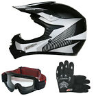 LEO-X18 Junior Kids Motorbike Motocross MX Helmet Gloves Goggles Set Monster