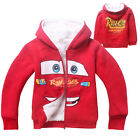 Fleece Kids Boys Lightning Mcqueen Coral velvet Dual Layer Coat Jacket Hoodies