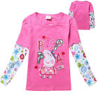Fashion Children Kids Girls Cartoon long sleeved Flower Flora Print T-shirt
